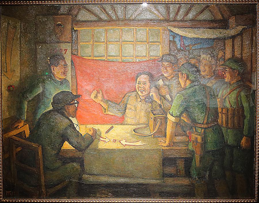 胡一川《转战前夕》油画 1977年 胡一川研究所藏