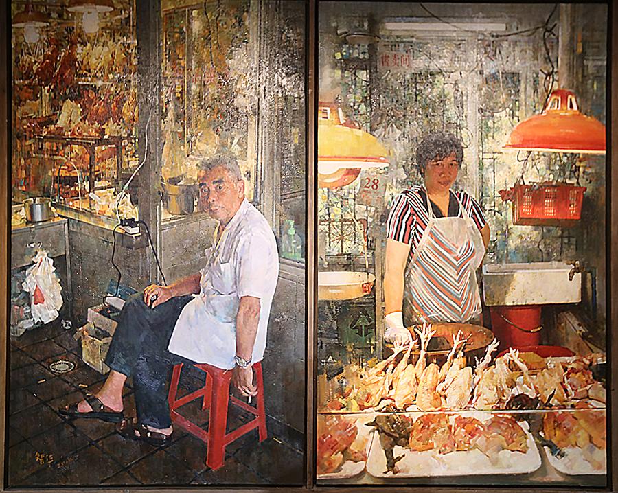 李智华 《老广东,小生活》 2014年 油画 中国美术馆藏