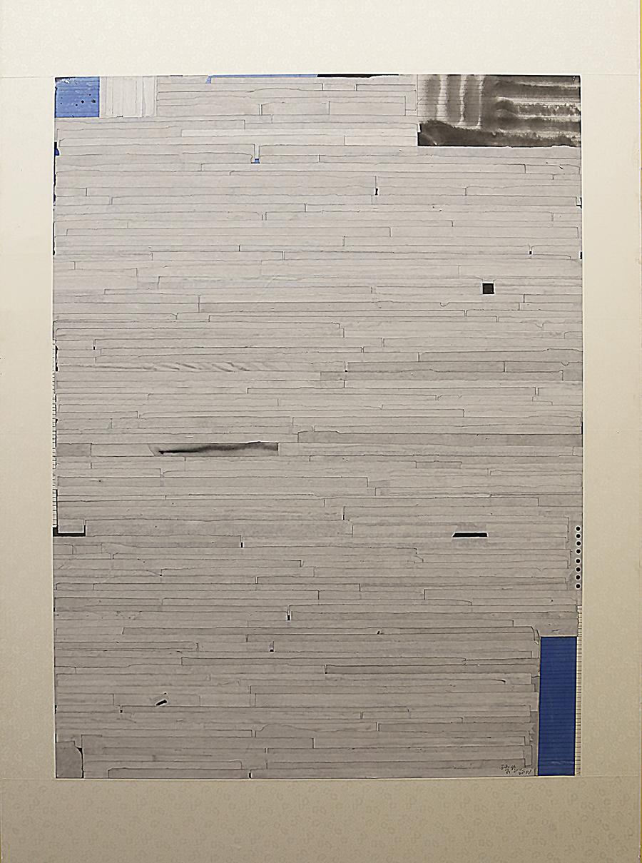 梁铨《竹幕之一》中国画 2001年 广州美术馆藏