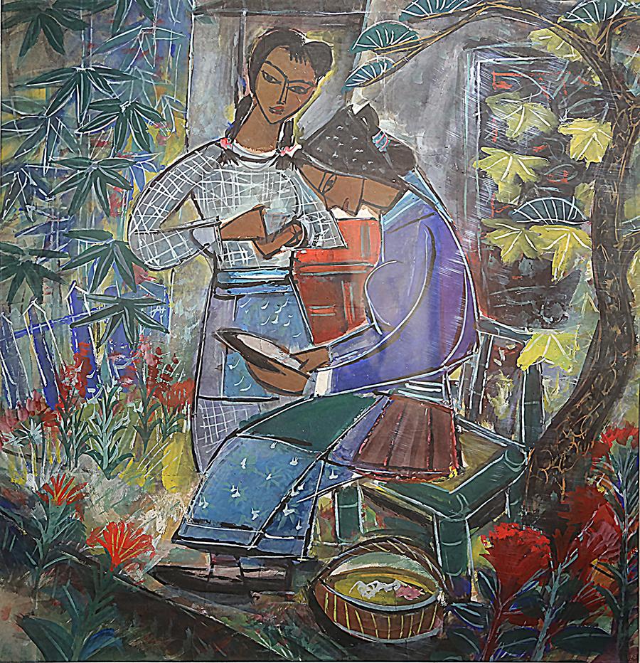 林风眠 《绣鞋》 20世纪60年代 中国画 上海市美术家协会藏