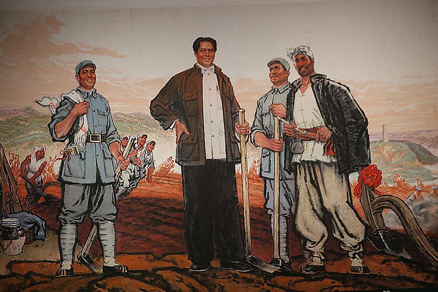 林墉 《延安精神永放光芒》 1971年 中国画