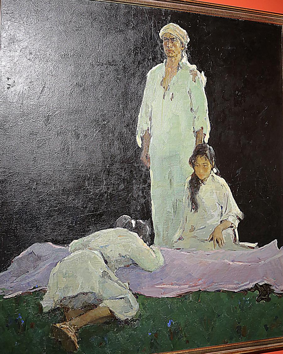 罗工柳《前仆后继》油画 1959年 中国美术馆藏