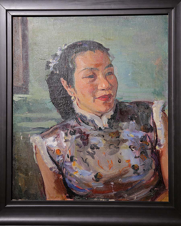 司徒乔《伊湄像》油画 1949年 广东美术馆藏