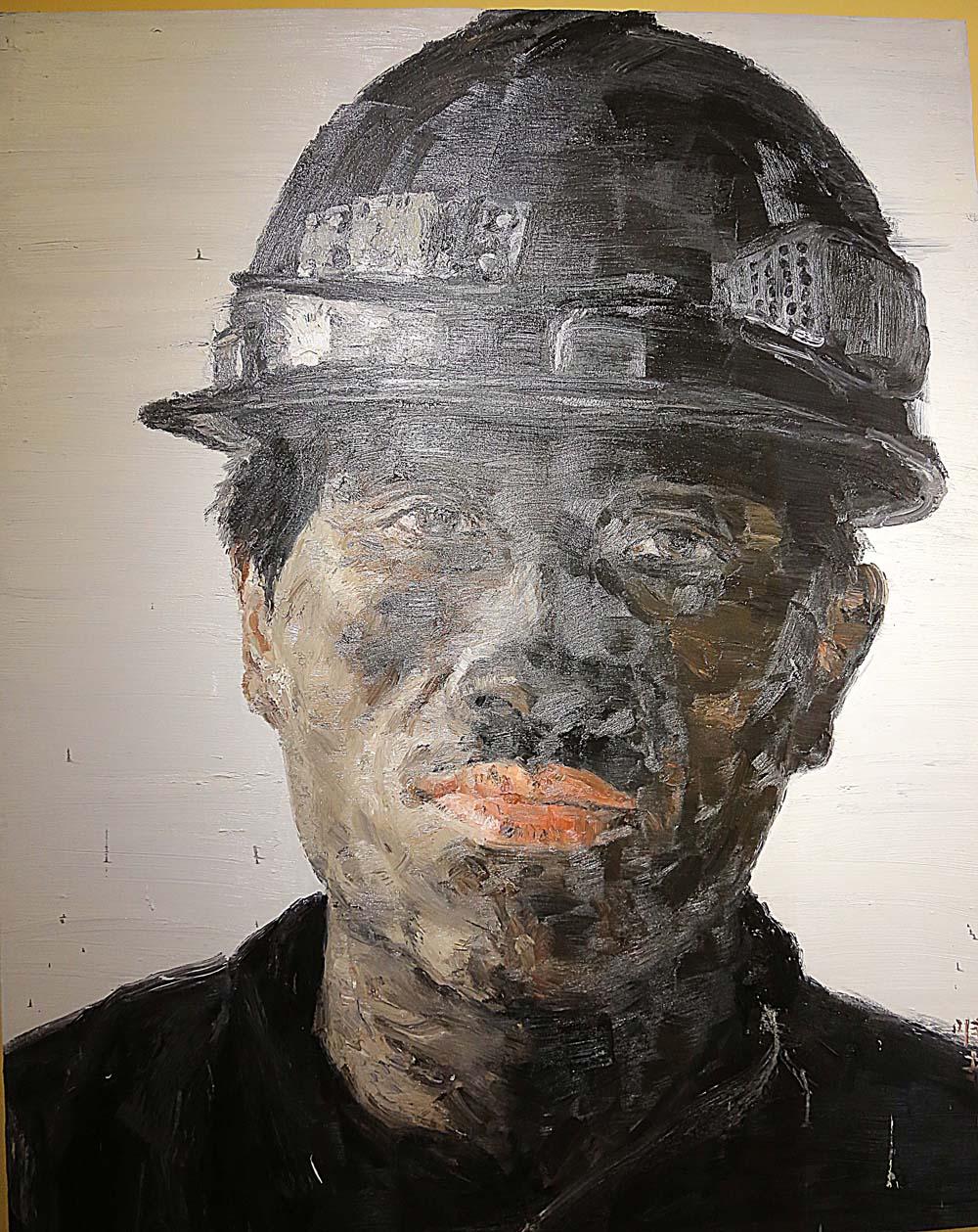 徐唯辛《矿工》油画 2005年