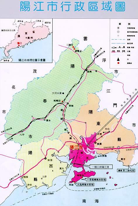 广东行政区划矢量图